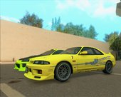 The Fast and The Furious paintjob for Nissan GT-R33