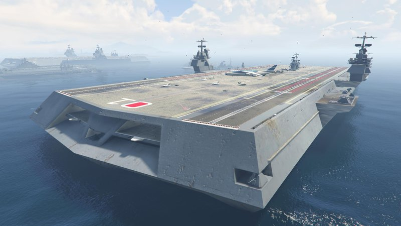 GTA 5 Mega Aircraft Carrier (add-on) Mod - GTAinside com
