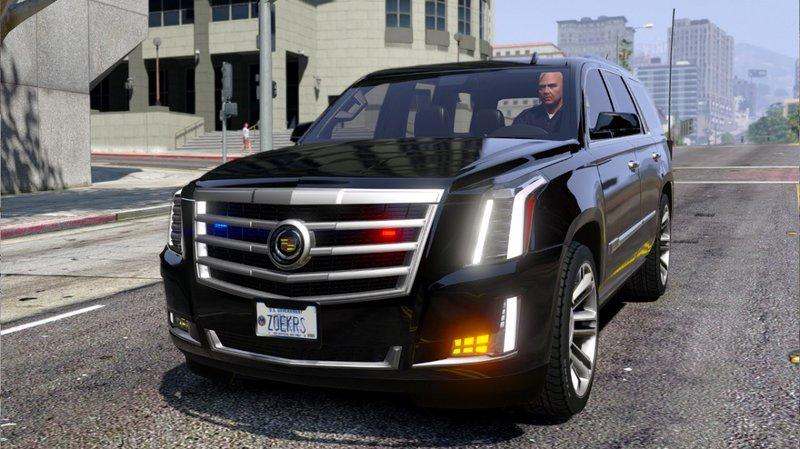 2017 Escalade Interior >> GTA 5 Cadillac Escalade FBI Petrol Vehicle 2015 [Replace] Mod - GTAinside.com