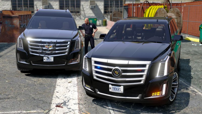 Gta 5 Cadillac Escalade Fbi Petrol Vehicle 2015 Replace