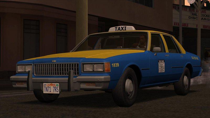Gta San Andreas Chevrolet Caprice Taxi 1986 Mod Gtainside Com