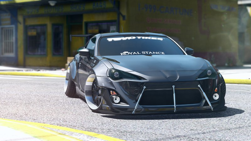 Gta 5 toyota gt86 rocketbunny add on replace mod for Toyota 86 exterior mods