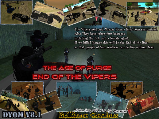 The Age of Purge DYOM S.W.A.T Mission 8 The end of Vipers