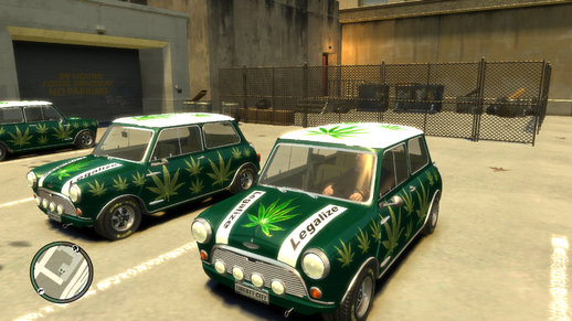 Weed Livery for Austin Mini Cooper