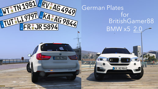 German Plates for 2016 Unmarked BMW X5 2.0