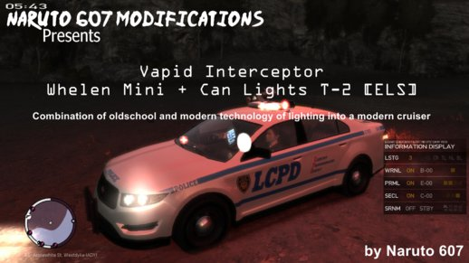 Vapid Interceptor Whelen Mini + Can Lights T-2 [ELS]
