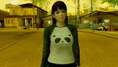 Dead Or Alive 5 LR Lei Fang Panda shirt Long hair