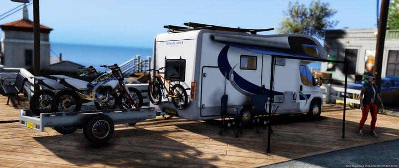 GTA 5 Fiat Campervan + Bike Trailer Mod - GTAinside com