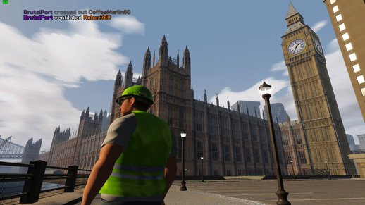 Big Ben UK Houses of Parliament 3D map mods