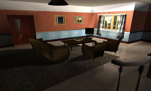 Cj House New HD  Interior Mod
