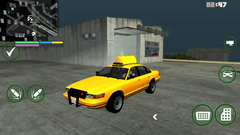 GTA San Andreas GTA IV taxi dff only for Android Mod - GTAinside com