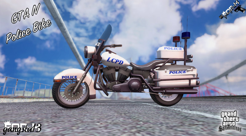 GTA San Andreas GTA IV Police Bike Mod - GTAinside com