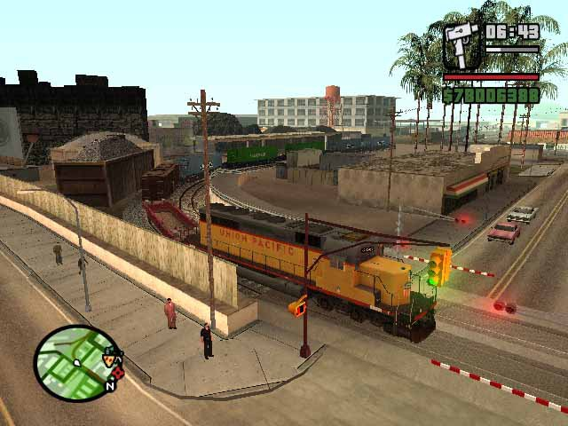 how to get on the freight train san andreas