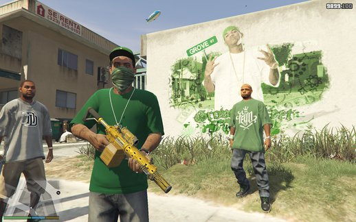Grove Street Families New Graffiti