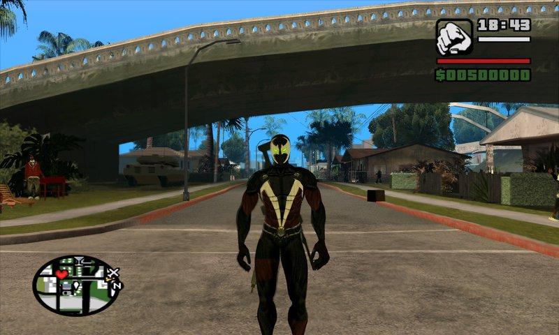 gta san andreas spawn with cape movie version skin gta