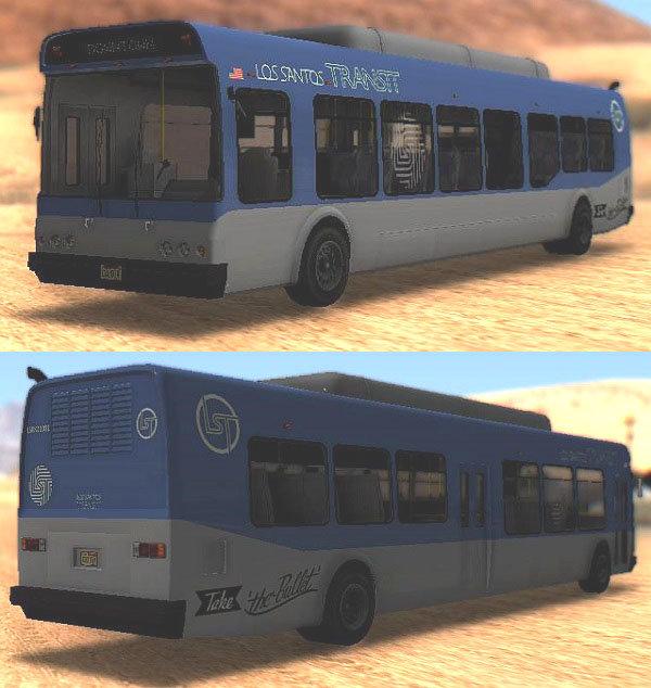 GTA San Andreas GTA V Brute Bus / Airport Mod