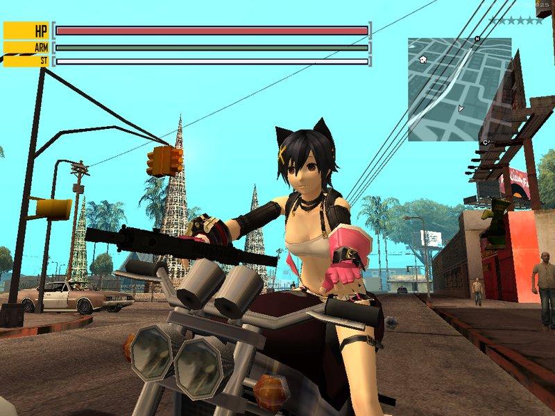 GTA San Andreas God Eater 2:Rage Burst - bHUD (Addon GTAV) Mod