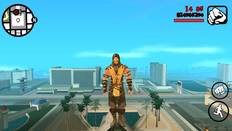GTA San Andreas Mortal Kombat X Scorpion HD For Android Mod