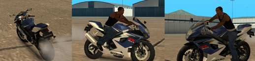 Suzuki GSX motorcycle (Low poly)