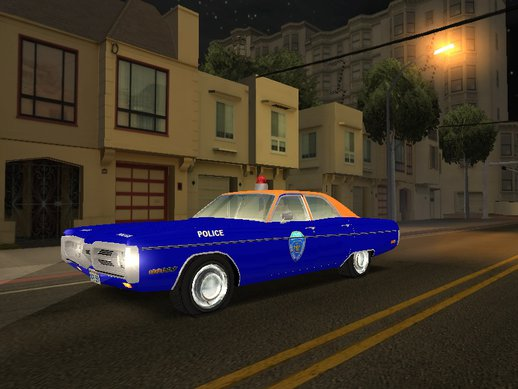 1972 Plymouth Fury Housing Authority Police