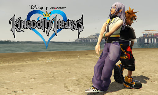 Sora & Riku - Kingdom Hearts [Add-On Ped Pack]