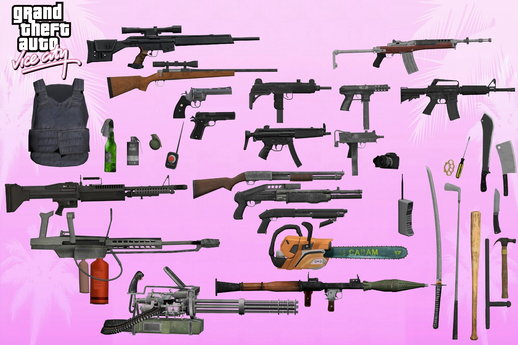 Vice City HD Weapons