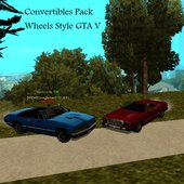 Convertibles Pack (Wheels Style GTA V)