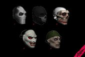 DLC GUN RUNNING MASKS FOR CJ