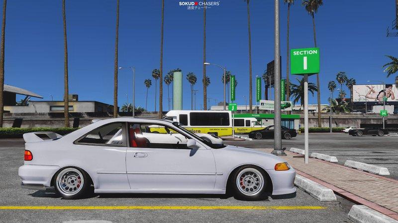 Młodzieńczy GTA 5 Honda Civic EJ2 Coupe [Replace   Tuning] Mod - GTAinside.com RK61