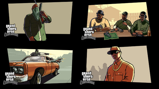 GTA V Style Loading Screens San Andreas