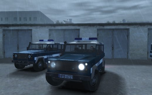 Land Rover Defender Polish Police