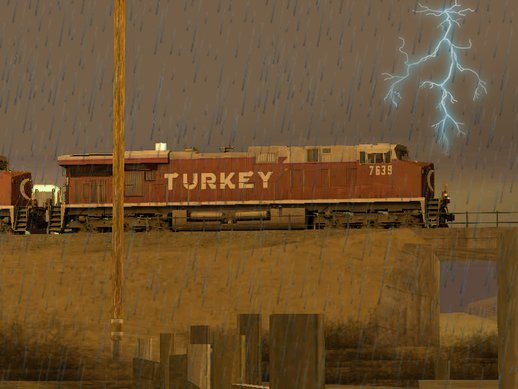 Turkish Freight Train with Reverse Cab