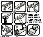 Russian Weapons Icon Pack in SA Style (128x128)