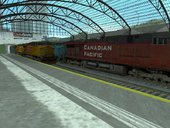 Package Of 2 Reverse Locomotives Canadian Pacific And Maersk Locomotive