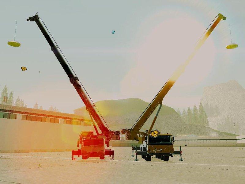 GTA San Andreas Terex Challenger 3160 & Liebherr LTM1070-3-1 Mod