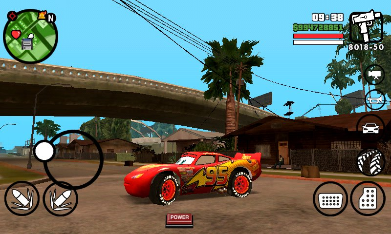 gta san andreas lightning mcqueen mod for android texture