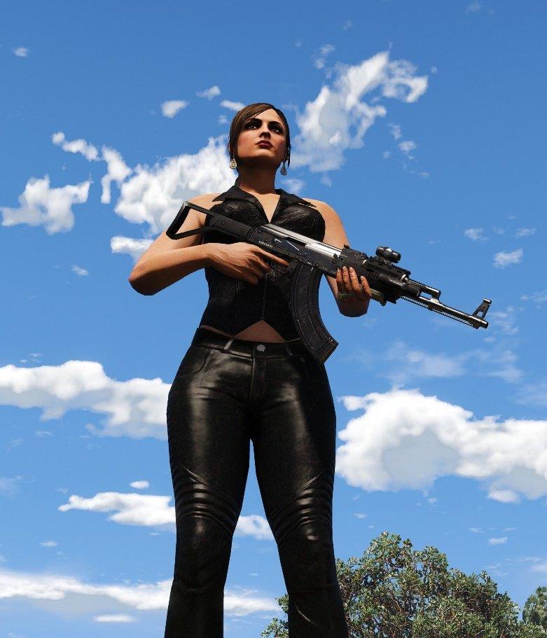 GTA 5 Modified Pants for Multiplayer Female V1 Mod