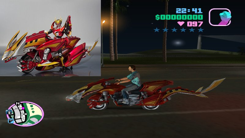 GTA Vice City Dragreder From Kamen Rider Mod - GTAinside com