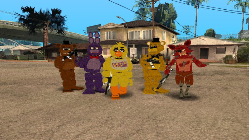 videos of grand theft auto five nights at freddys