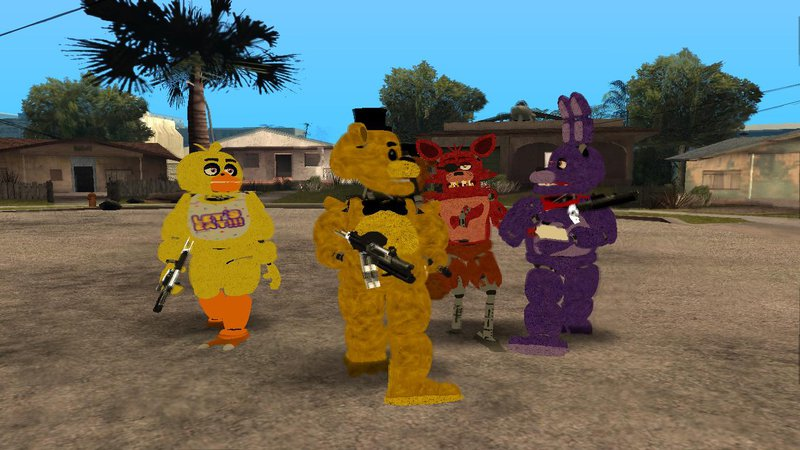 GTA San Andreas Five Nights at Freddy's 1 Skin Pack Mod