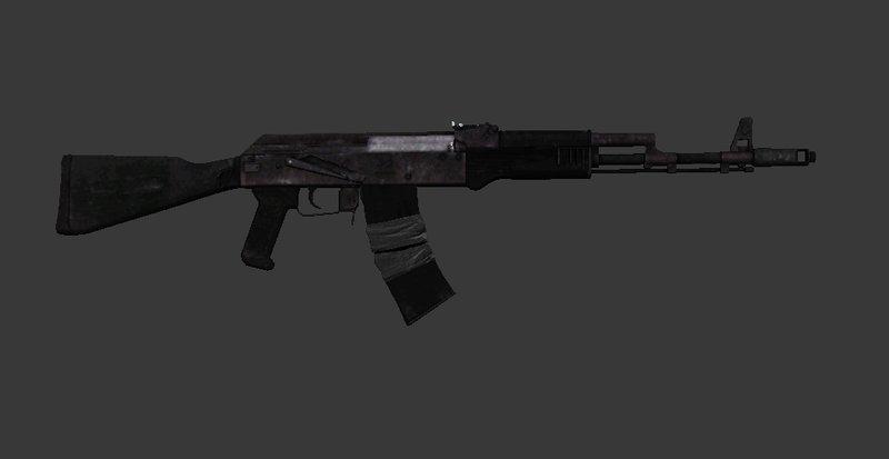 Ak74m: GTA San Andreas Battlefield 3 AK74M Assault Rifle Mod