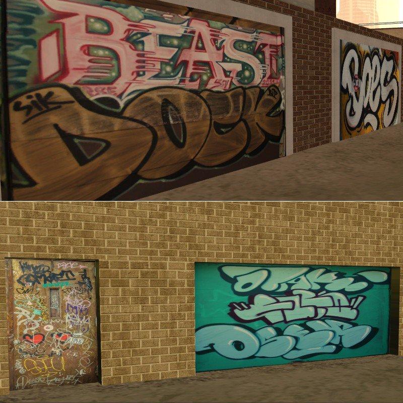 моды на граффити для gta san