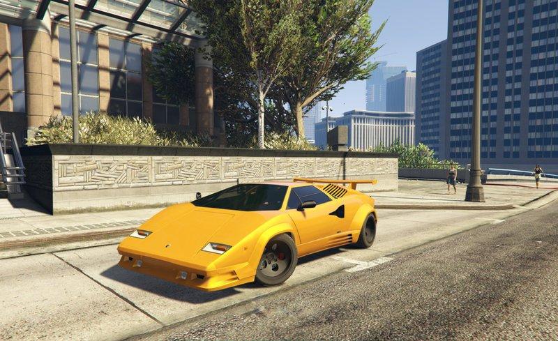 Gta 5 Lamborghini Countach Qv Add On Tuning Mod Gtainside Com
