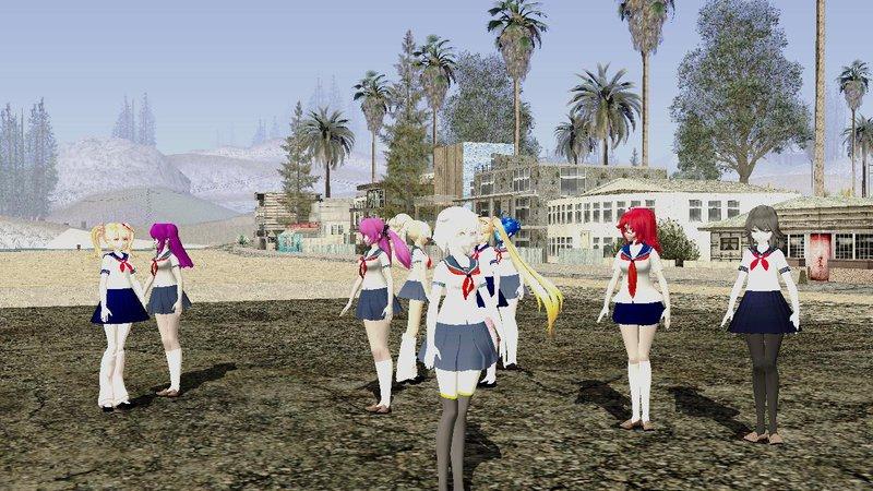 GTA San Andreas Yandere Simulator MMD Pack Mod - GTAinside com