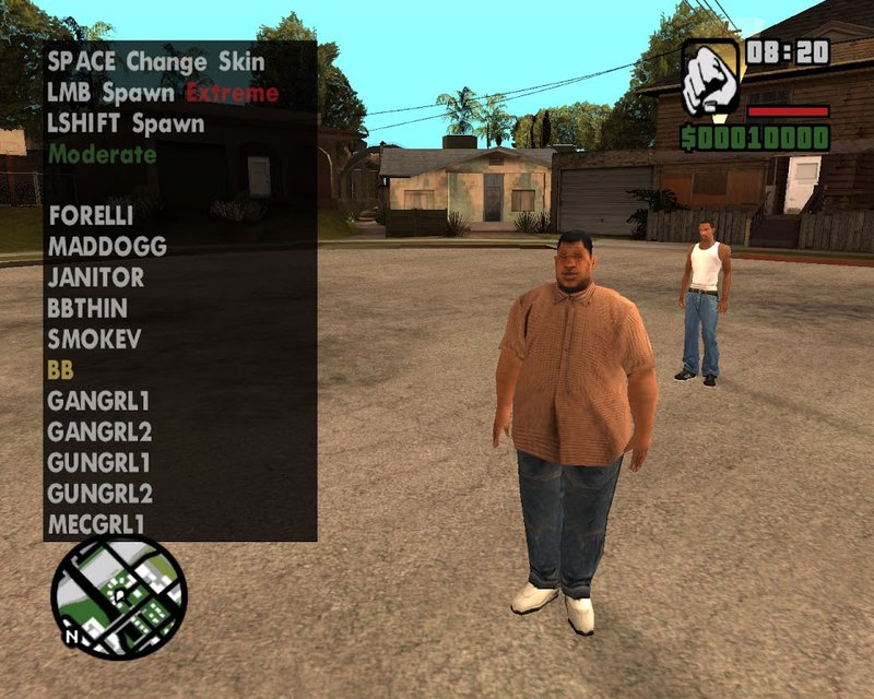 Gta san andreas mods skin selector v 2. 1 + the red army fighter.