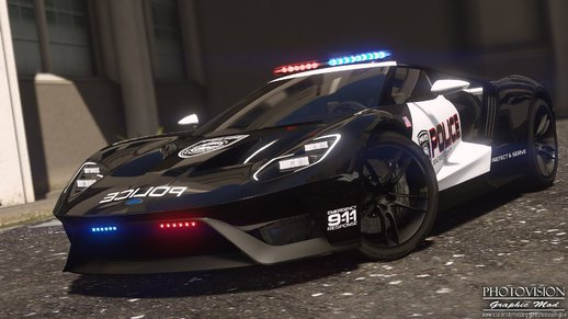 2017 Ford GT | Hot Pursuit Police [Add-On / Replace | Template]