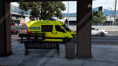 Portuguese Firefighters, INEM, PEM'S, Red Cross Ambulance - Mercedes Sprinter [Replace] v3.0