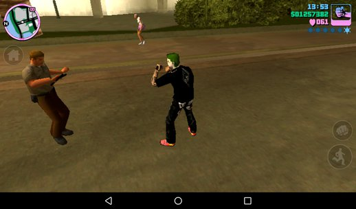 Joker In Kyrim Shirt And Rock Shoes And Pants And Zombie Arms