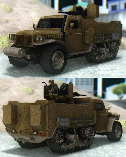 GTA V Bravado Half-Track Twin-Machinegun