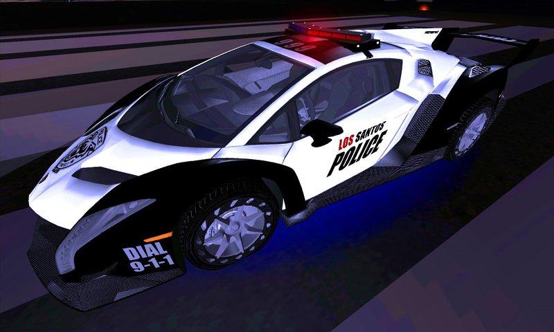 Police Lamborghini Veneno From NFS Rivals For GTA SA